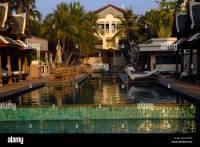 Schwimmbad, Front, Spa, Turm, Hotel, Halbinsel, Bangkok ...