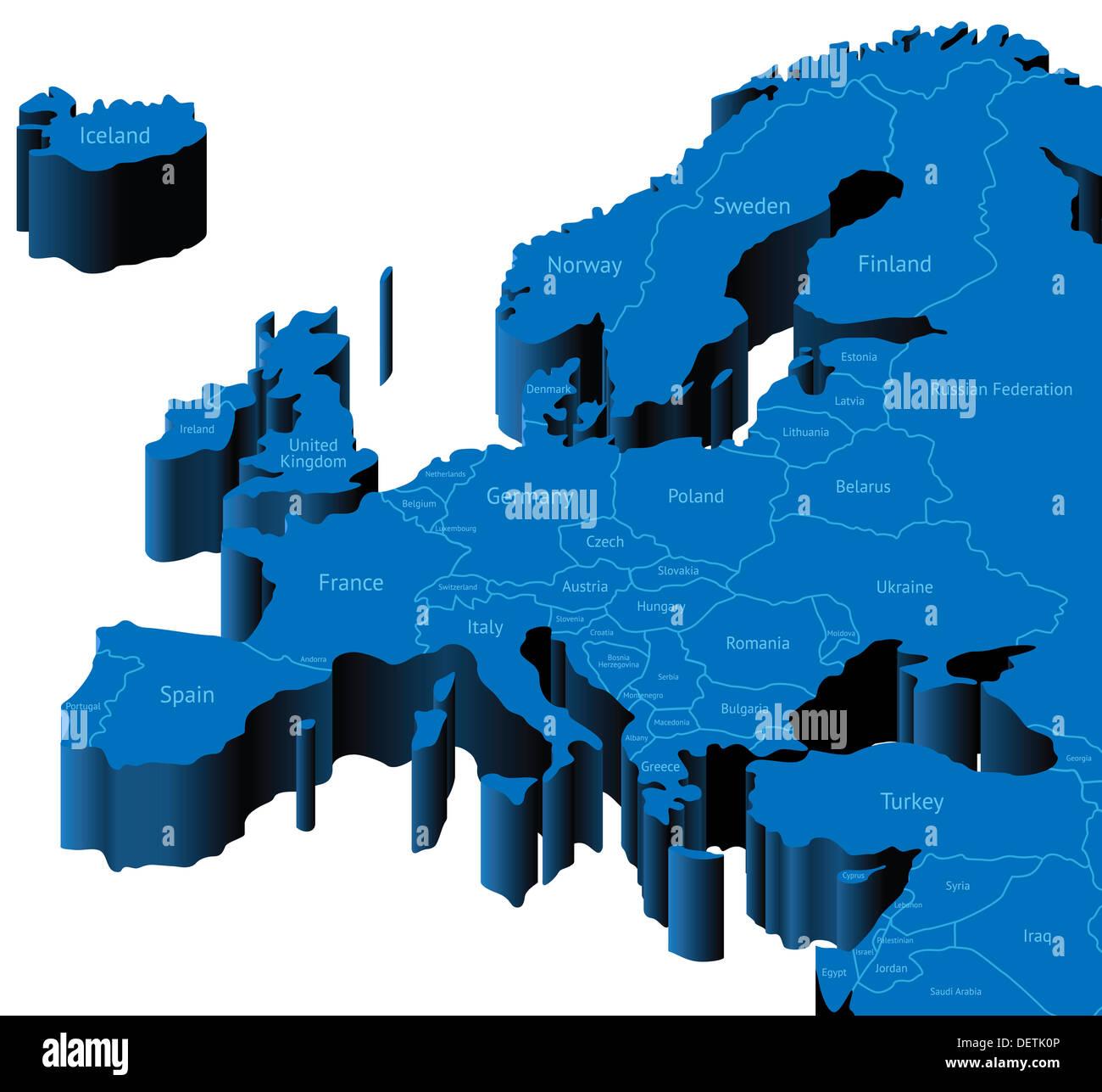 Karte Deutschland Mit Lander Grenzen