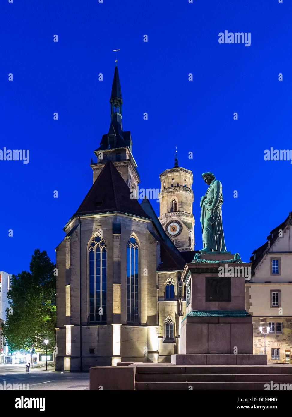 Schillerplatz Stuttgart Germany Stockfotos  Schillerplatz