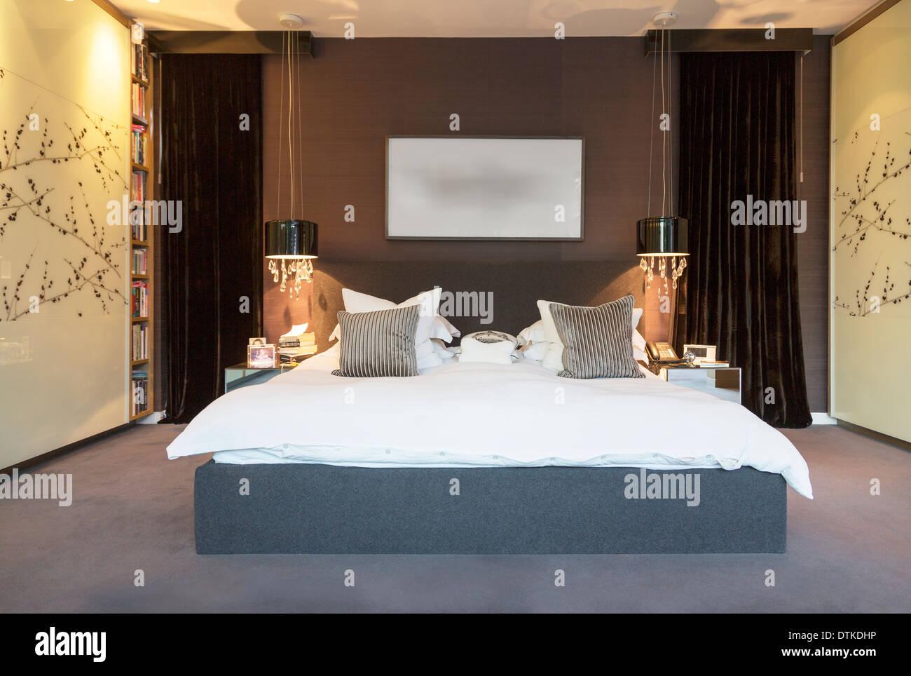 Grune Schlafzimmer .