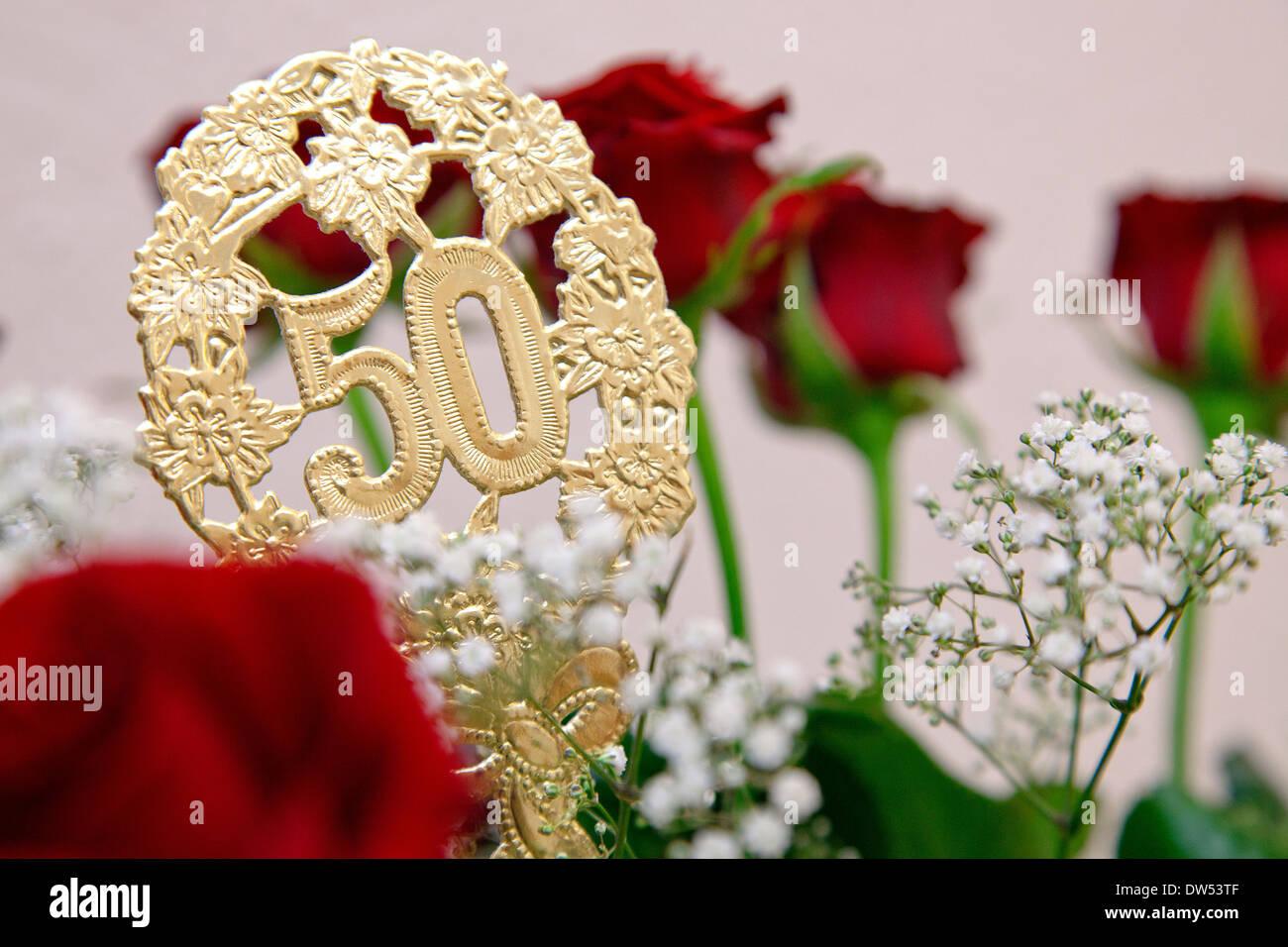 Blumenstrauss 50 Hochzeitstag  Hochzeit