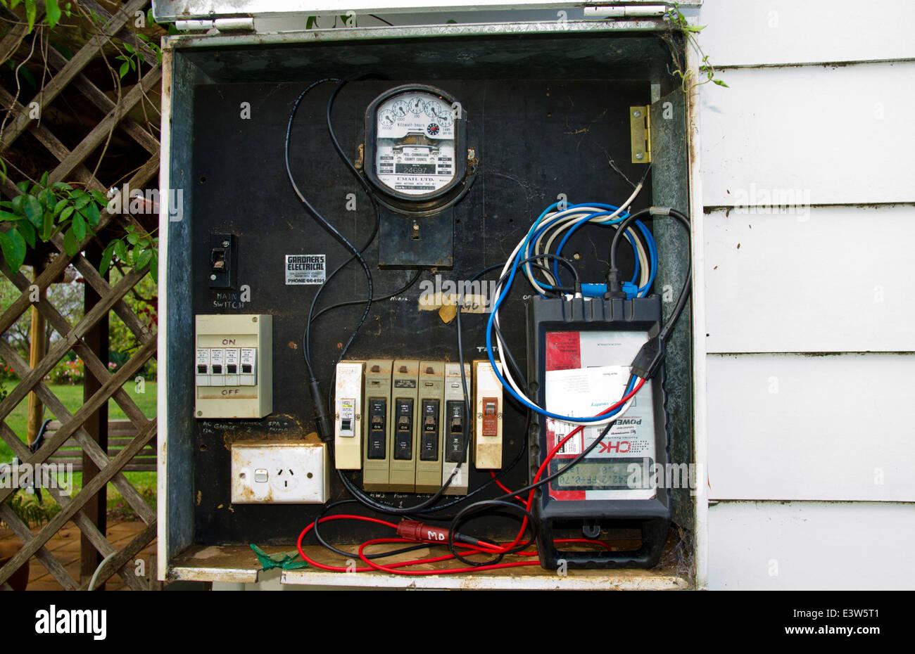 3 phasen strom 04 volvo xc90 wiring diagram stromzahler mit und storung analyzer stockfoto bild