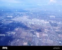 Usa Nevada Las Vegas Von Oben Stockfoto Bild