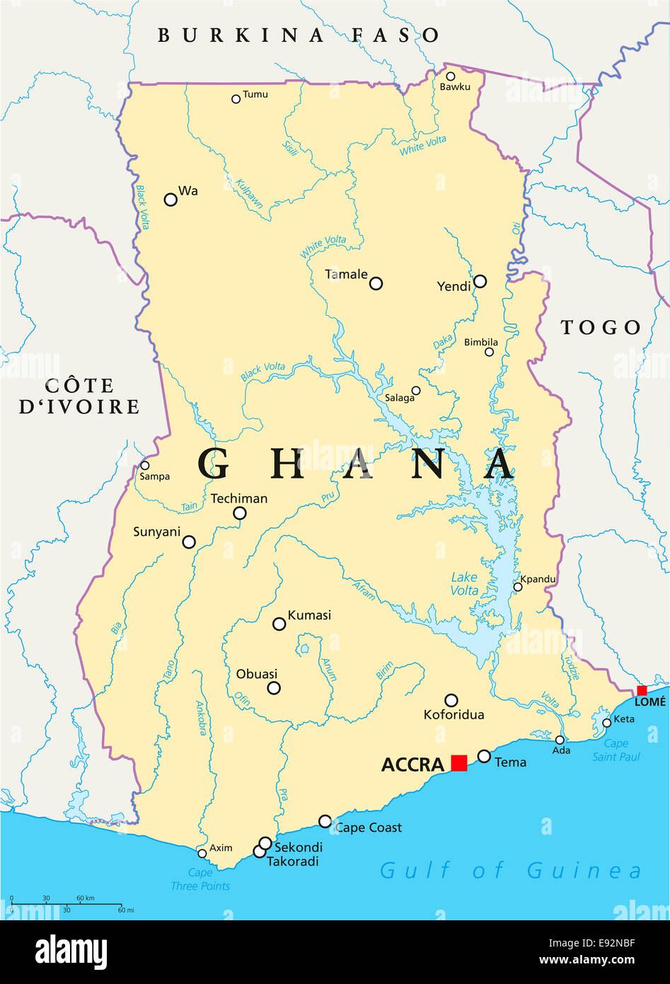 Lake Volta Africa Map.Lake Volta Africa Map Detailed