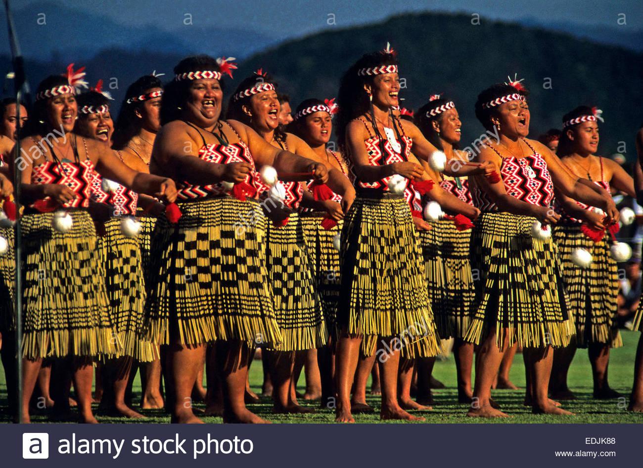 Puhi Tanz Waitangi Day Nordinsel Neuseeland Stockfoto