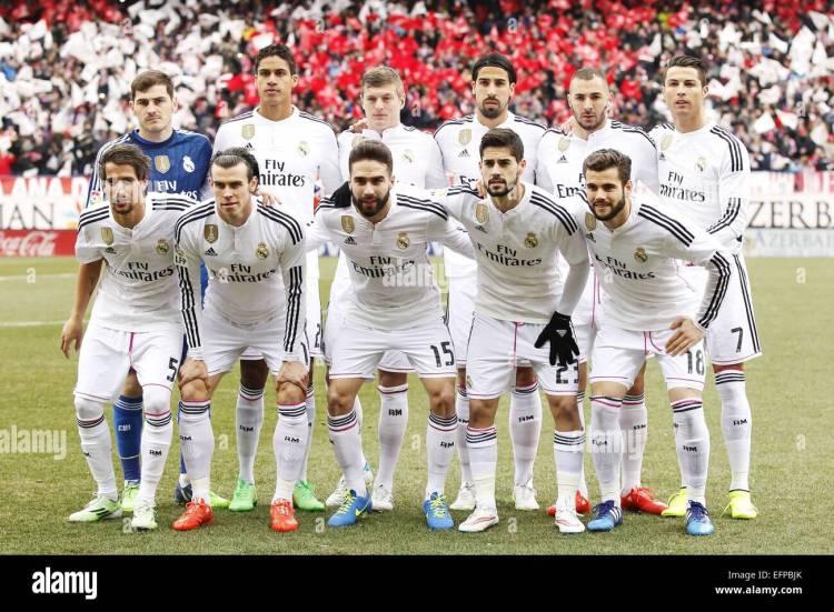 Real Madrid team Gruppe Line-up (Real), 7. Februar 2015 ...