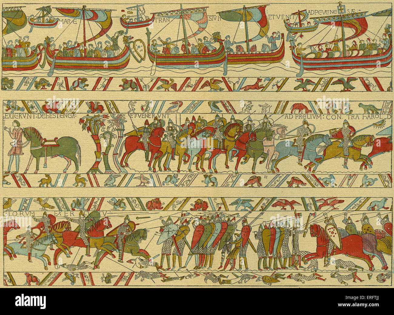 Teppich Von Bayeux Inhalt Tapestry Stockfotos And Tapestry Bilder Alamy