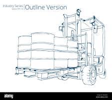 Lift Truck Forklift Vector Illustration Stockfotos & Lift ...