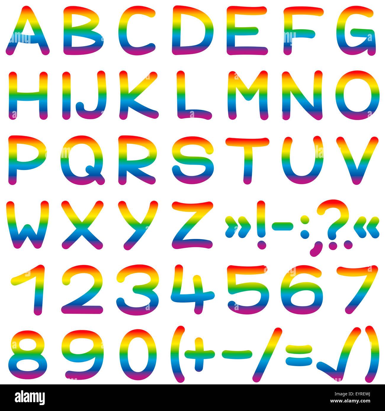 Regenbogenfarbenen Alphabet