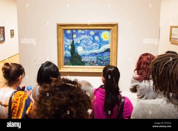 Die Sternennacht Gemalt Von Vincent Van Gogh 1889 Moma Museum Of Modern Art York