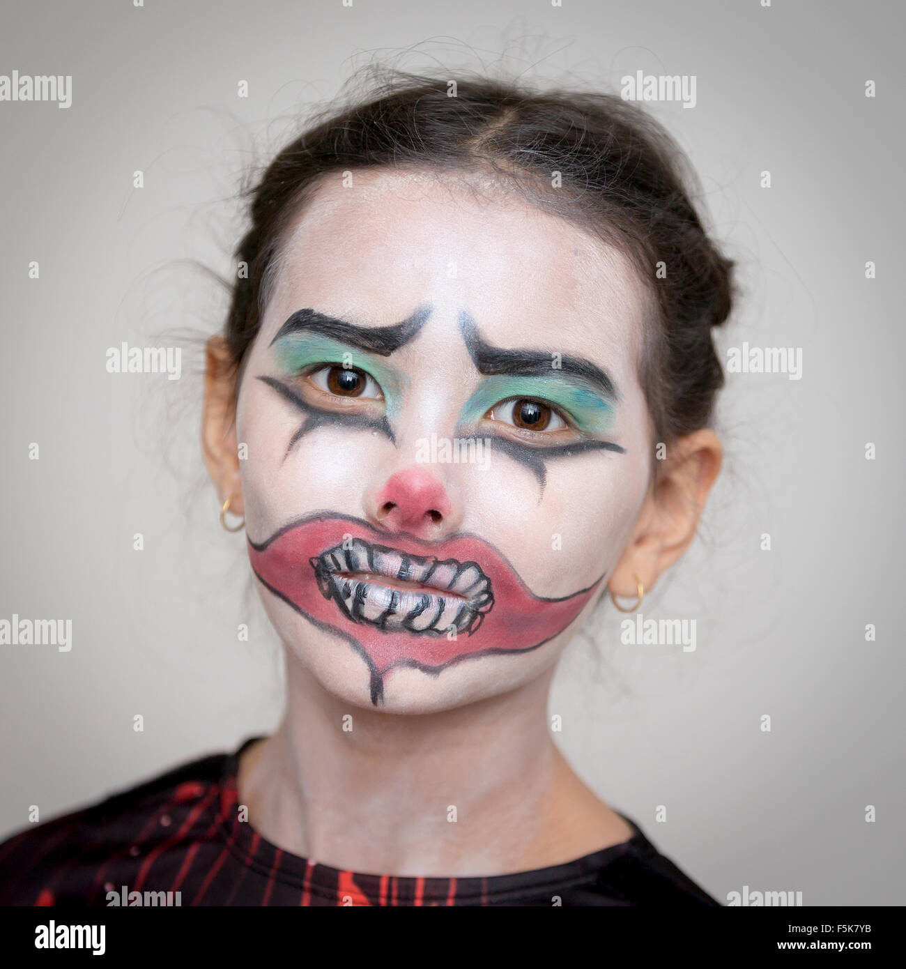 Clown Gesicht Malen Fasching Make Up Im Letzten Moment