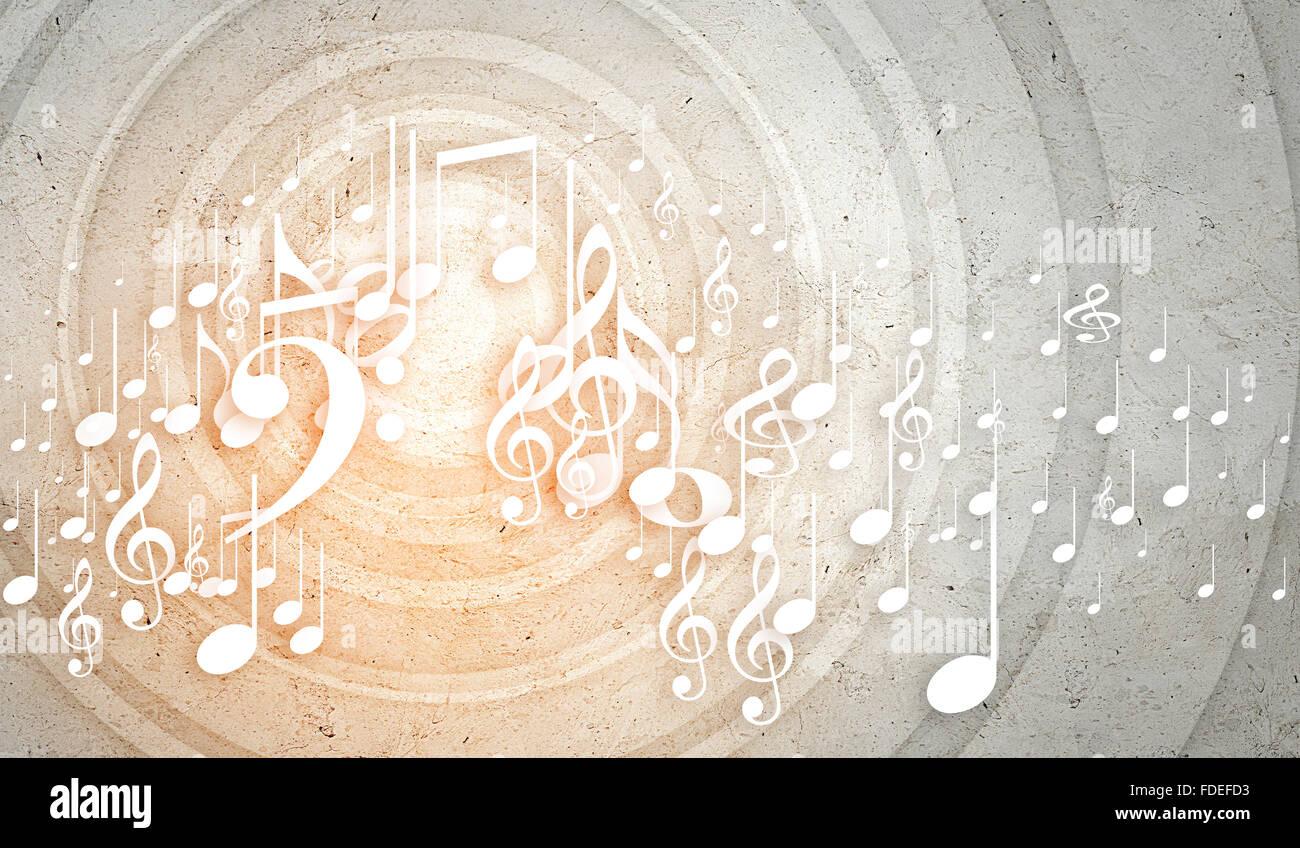 Konzeptionelle Hintergrundbild mit Musik Notenschlssel