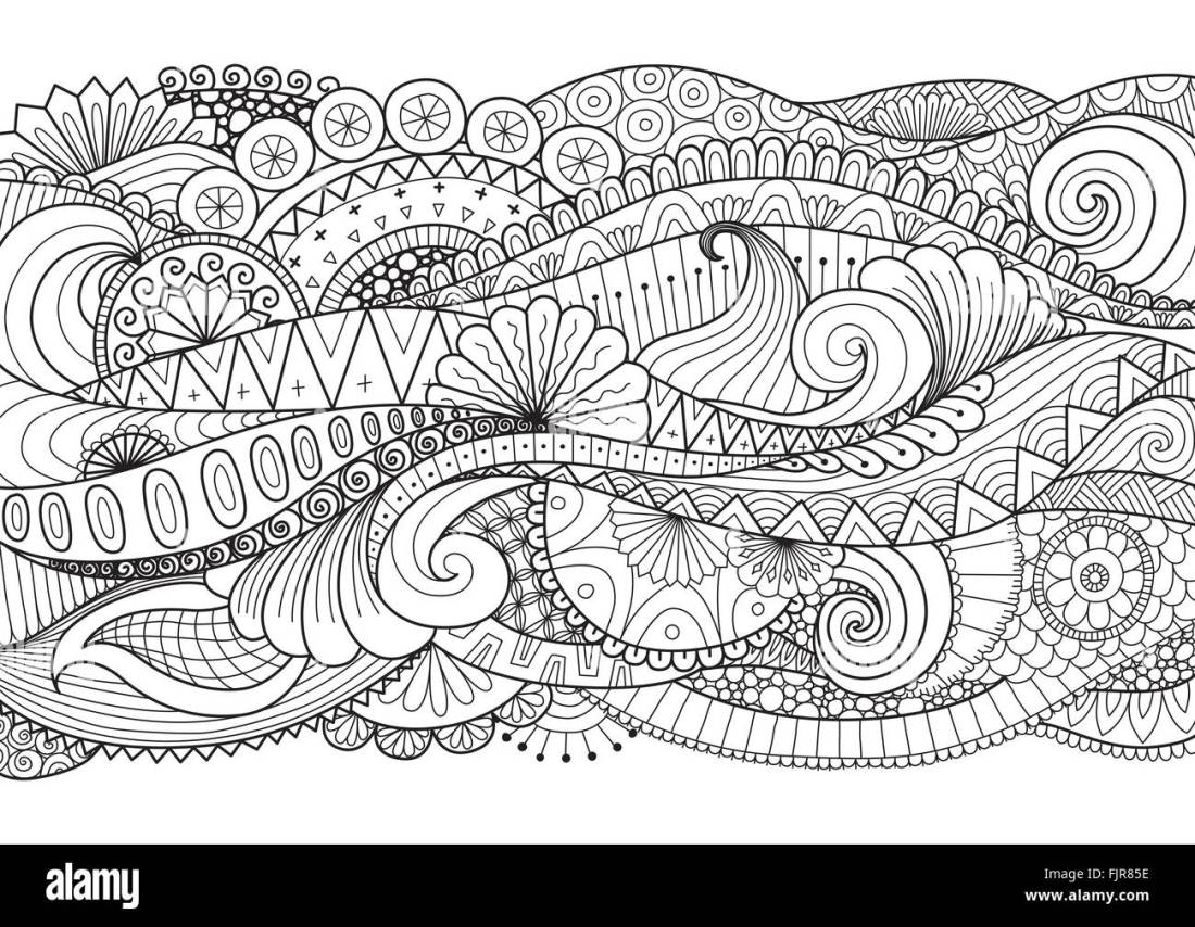 adult coloring book pages stockfotos & adult coloring book
