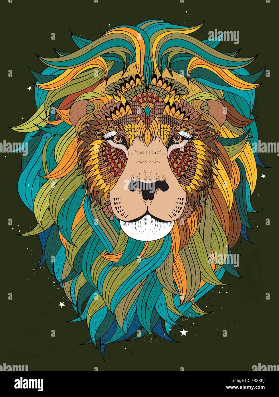 Malvorlage Löwenkopf