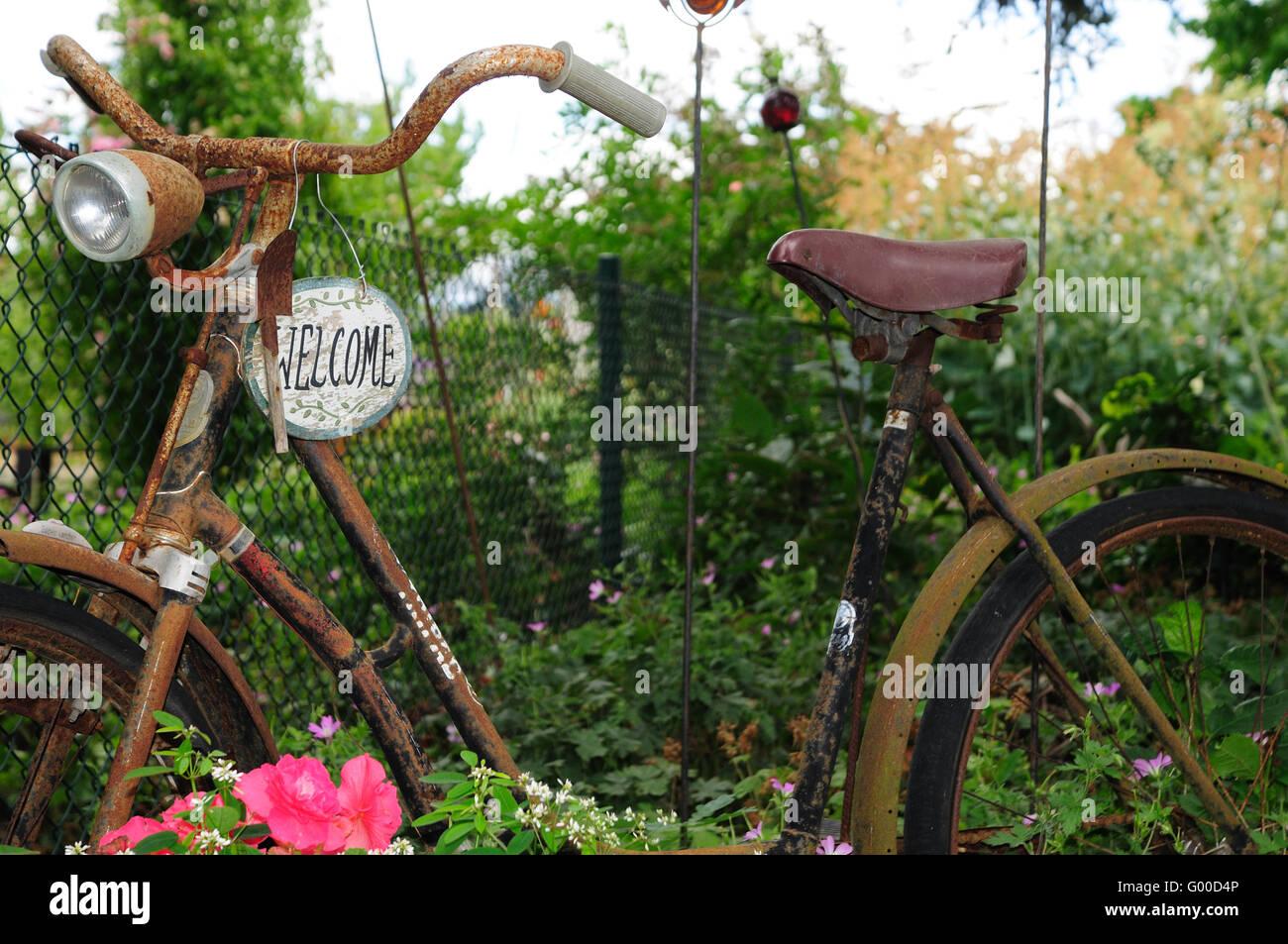 Deko Fahrrad Garten Weihnachtsdeko Metall Rost Metall Deko Garten Neu