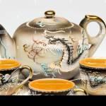 Japanische Keramik Porzellan Teeservice Stockfotografie Alamy