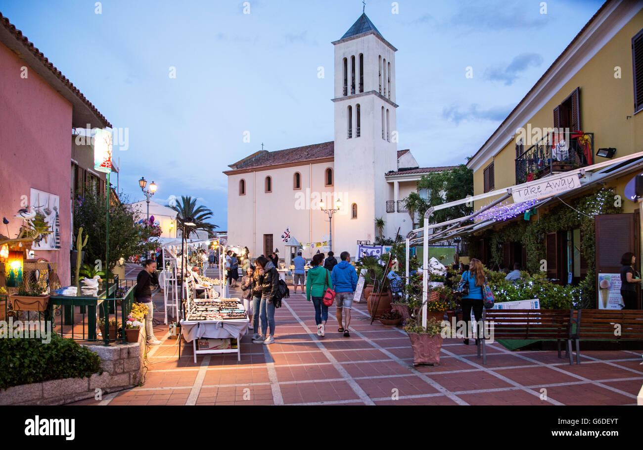 San Teodoro Night Sardinia Italy Stockfotos  San Teodoro