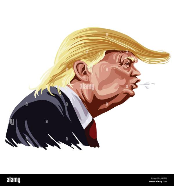 Donald Trump Karikatur Digitale Illustration