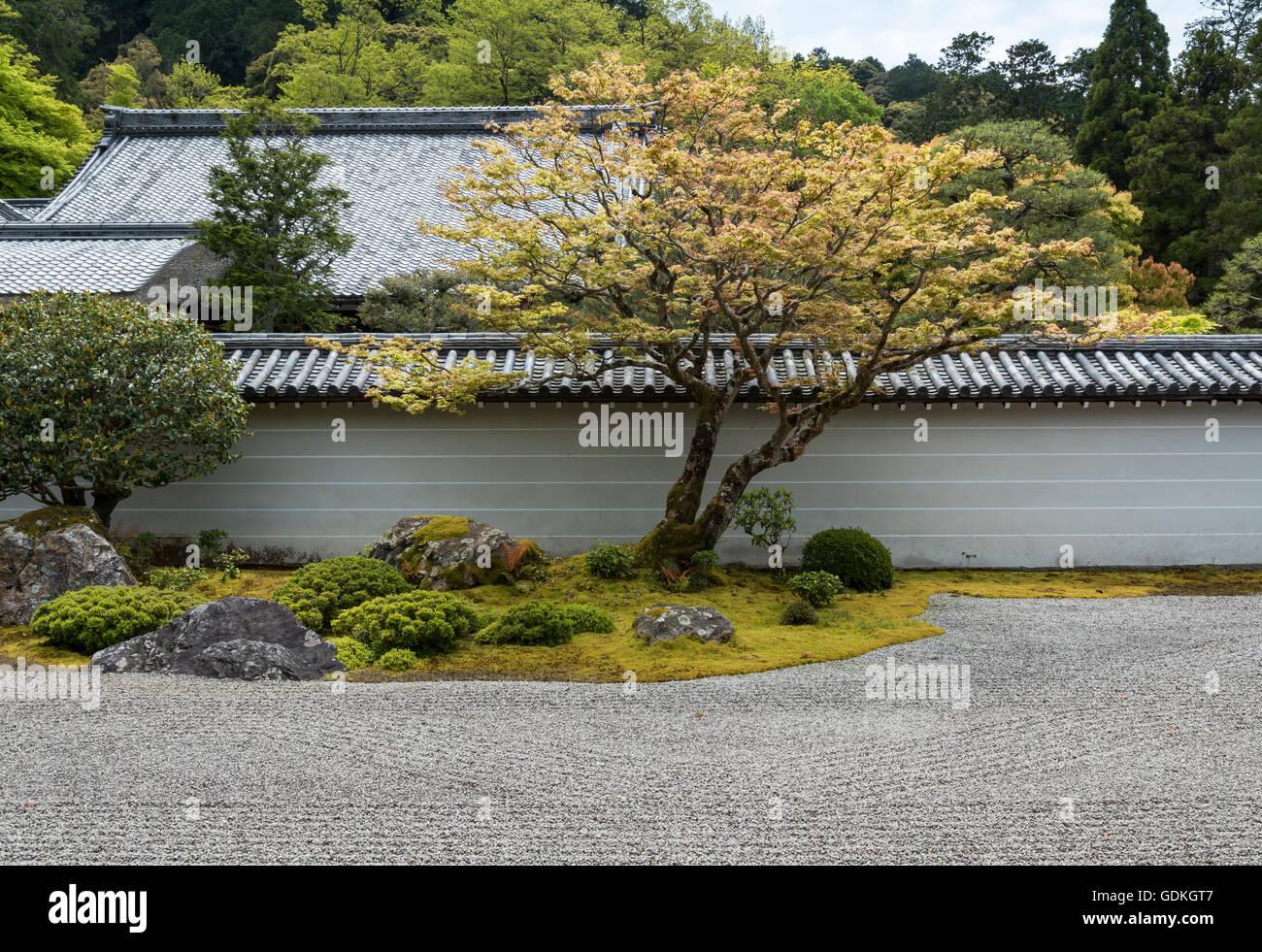 Zen Garten Japan Japan Kyoto Eikan Do Tempel Zen Garten Stockfoto Bild