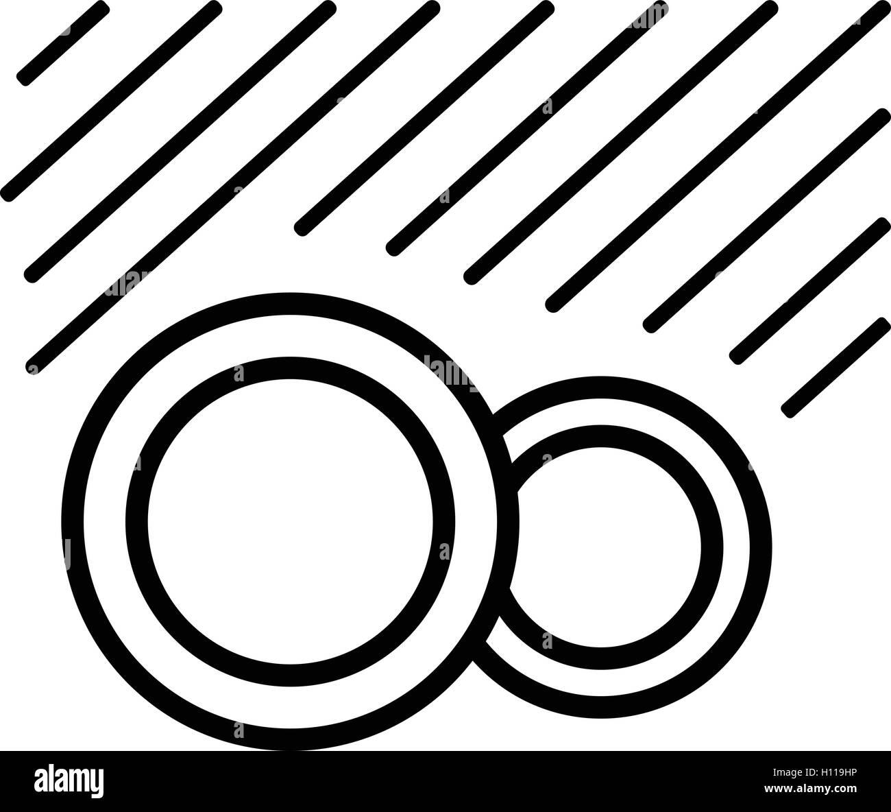 Symbol Spulmaschinenfest Motorrad Waschen Schwarz Einfache Symbole