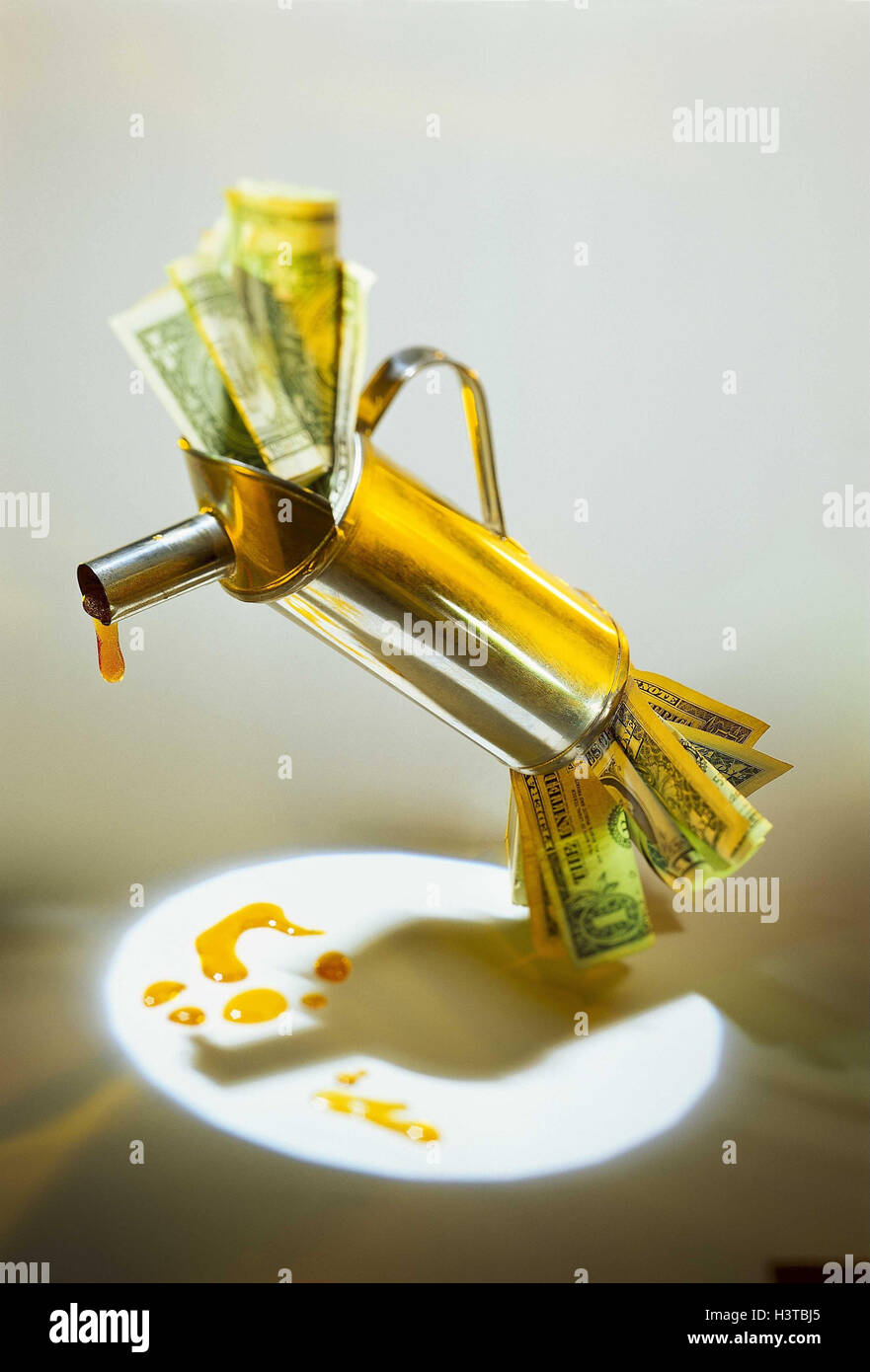 Symbol, Steuer Auf Öl, Projektion, Ölkanne, Banknoten, Dollar, Öl
