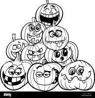 Malvorlagen Halloween Kürbisse Stockfotografie   Alamy