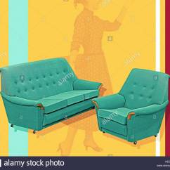 Hay Sofa Mags Leder 3pc Sectional Set With Ottoman 50er Stil. Affordable Couch Sitzer Retro Max ...