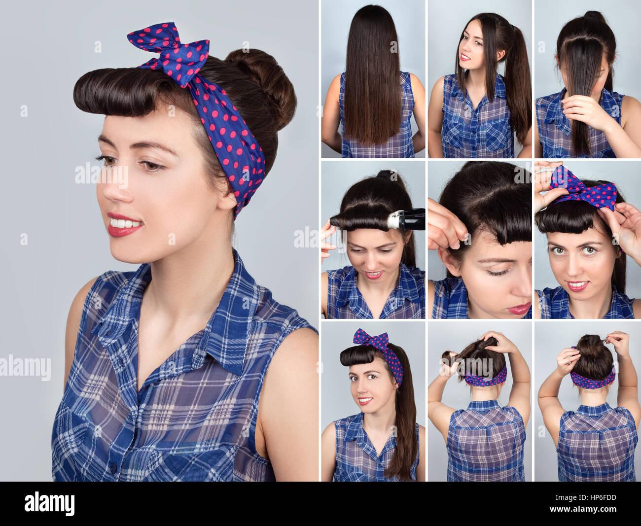 Einfache Frisur Dutt Tutorial Für Die Frau Frisur Für Lange Haare