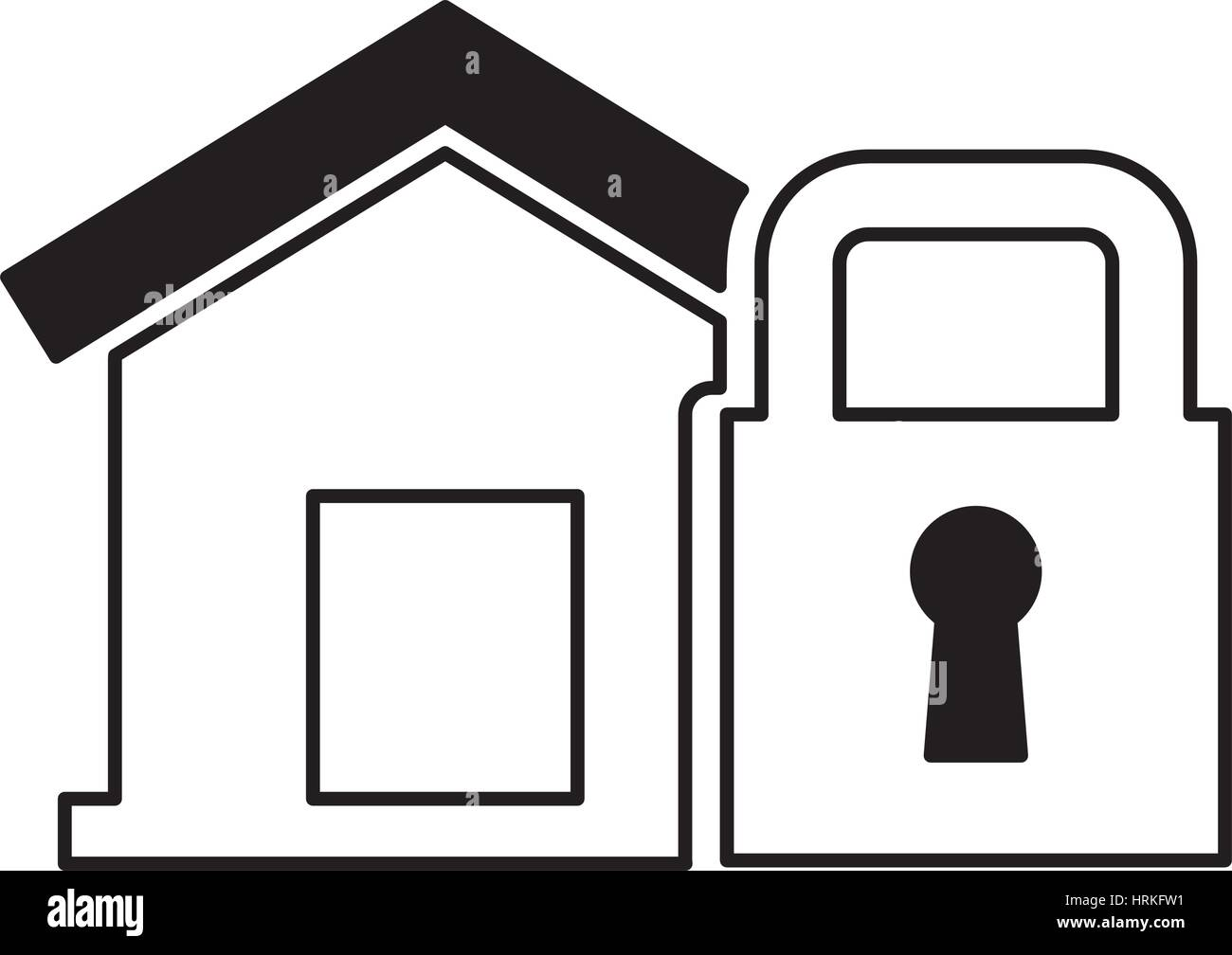 House Insurance Isolated Icon Vector Stockfotos & House Insurance