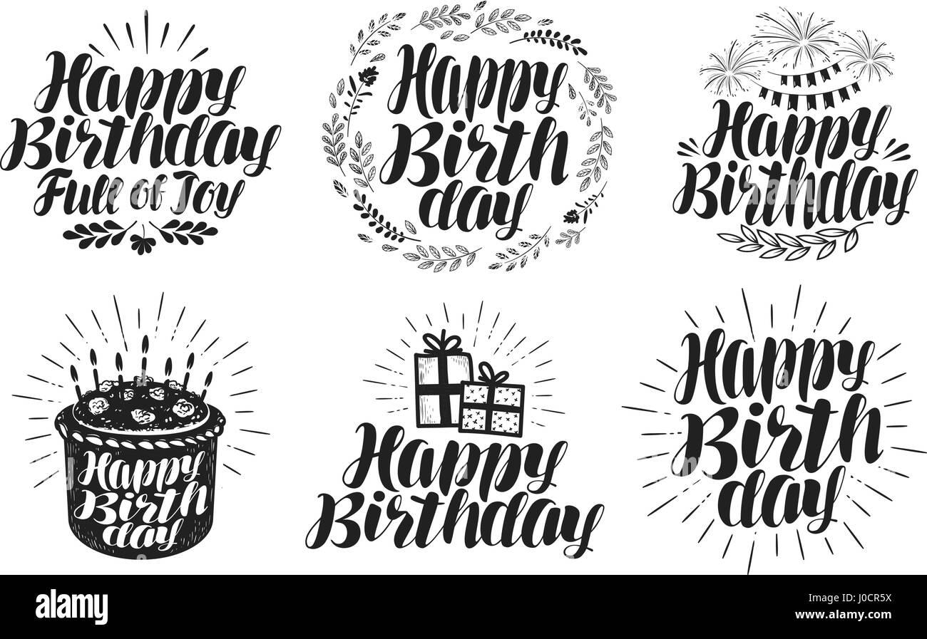 Happy Birthday In Verschiedenen Schriften