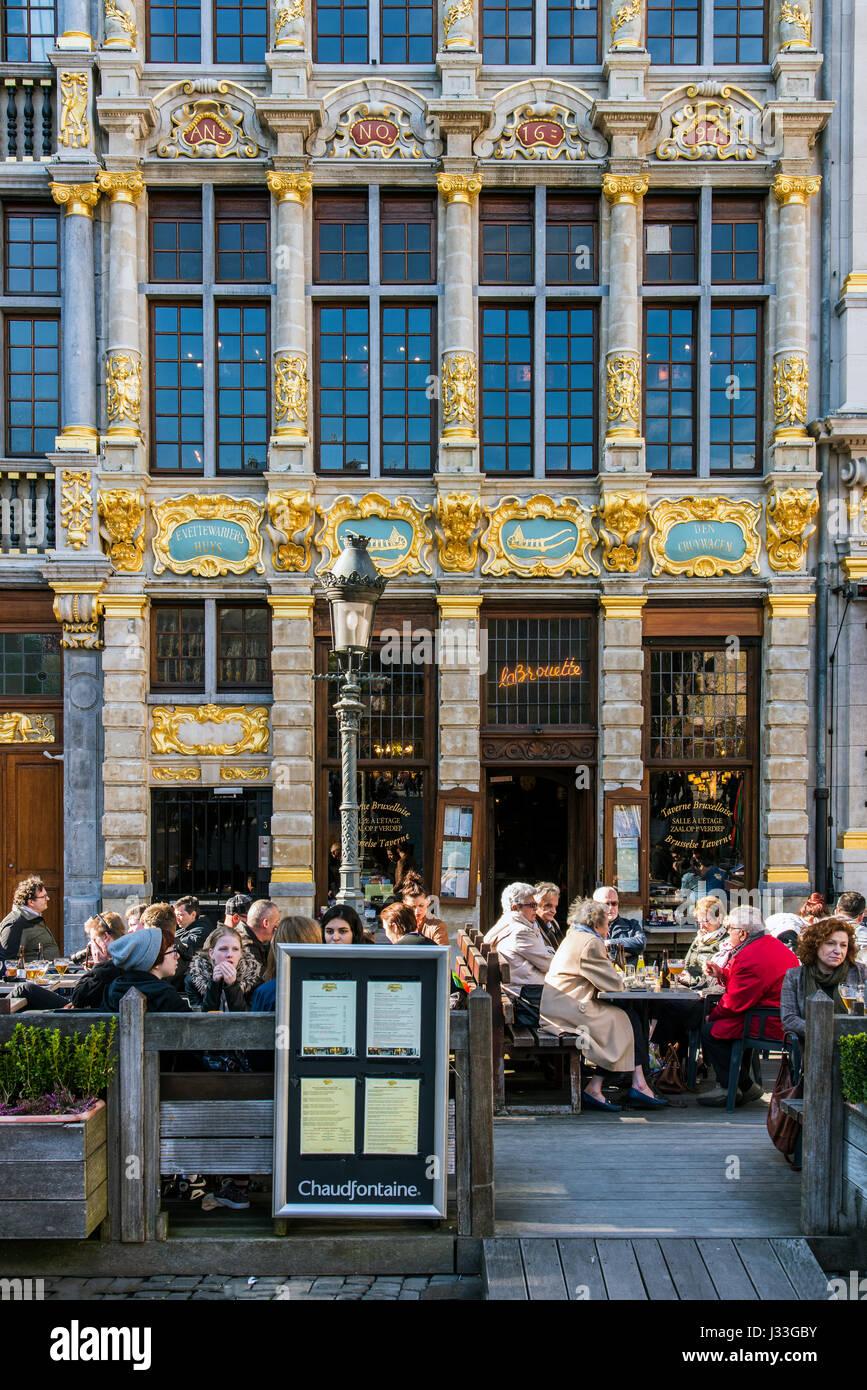 Belgium Restaurant Brussels Stockfotos  Belgium