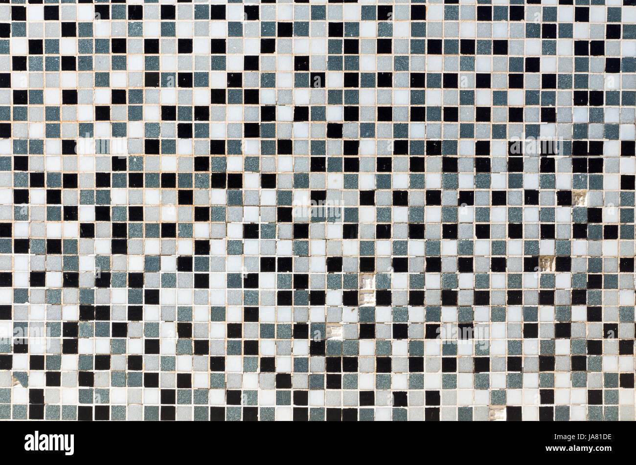 Weiß Schwarz Und Grau Mosaik Fliesen Stockfoto Bild