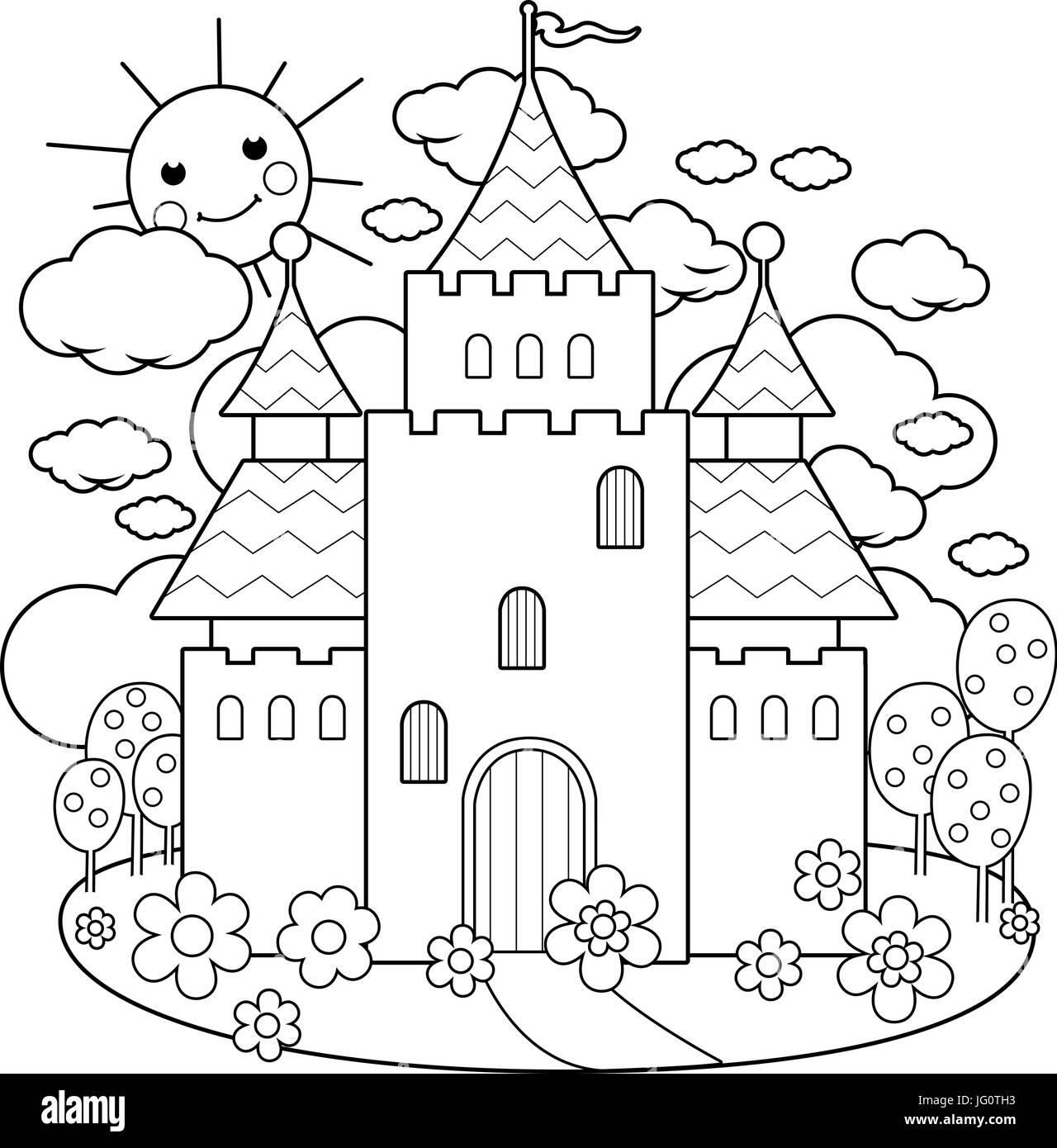 Malvorlagen Prinzessin Schloss - Zeichnen und Färben