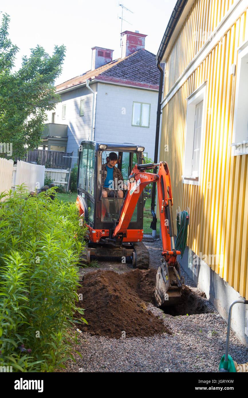 Garten Bagger Fahrzeugbeklebung Bagger Garten Und Landschaftsbau