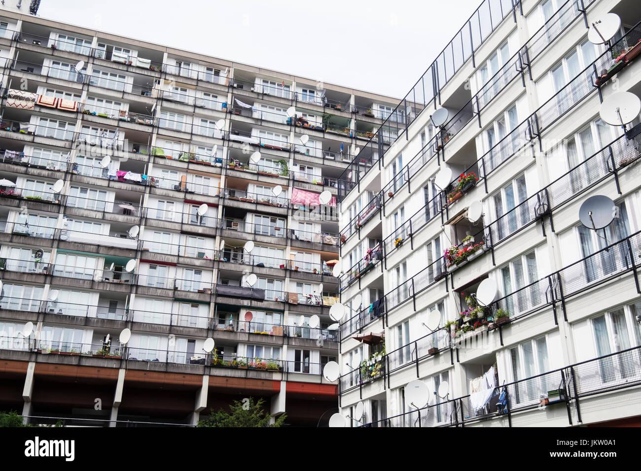 Sozialer Wohnungsbau Wohnung Blcke im Pallasseum auf