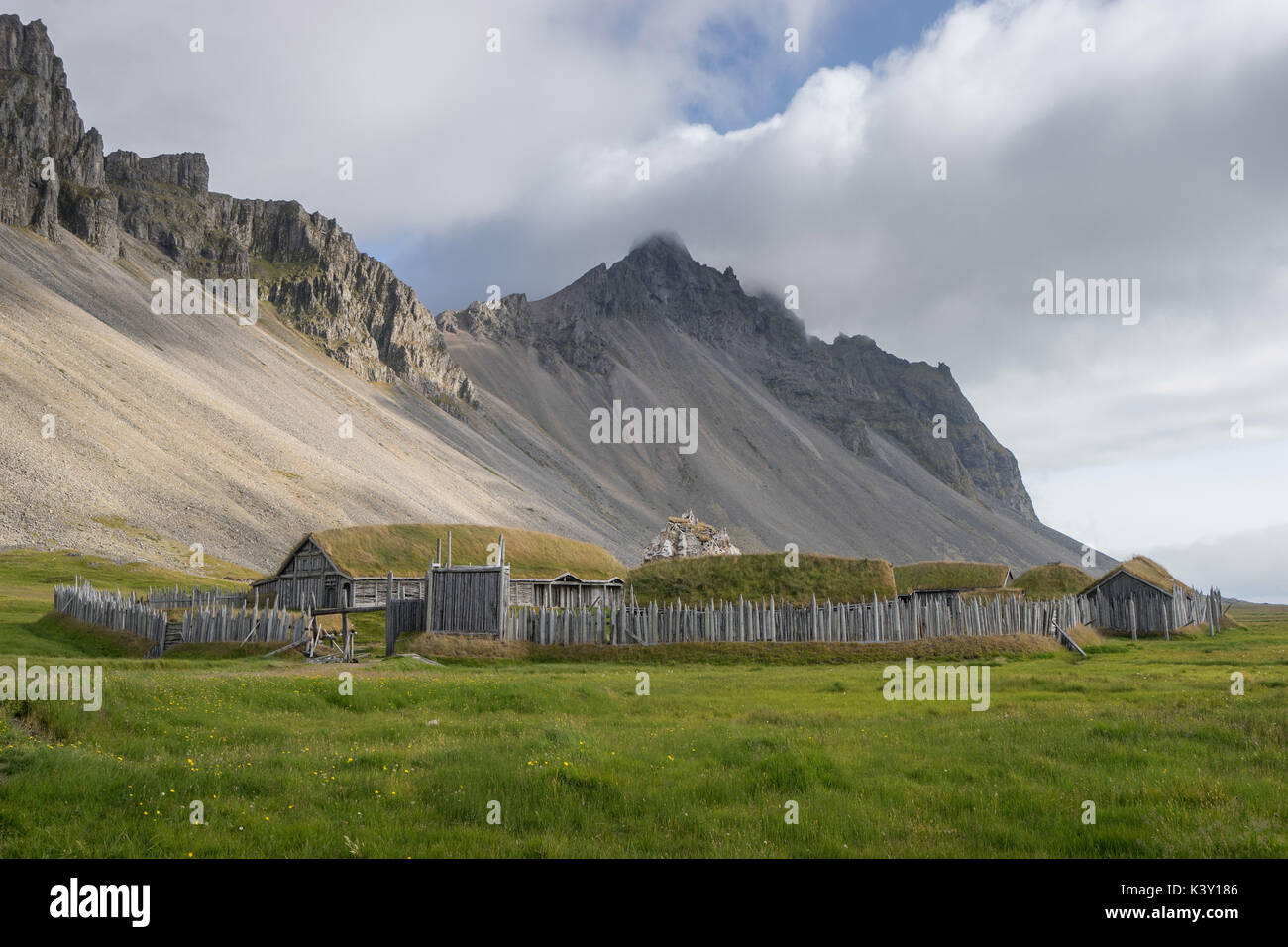 This great costume drama ended with the viking funeral that was idealized in popular culture. Viking Village Film Vor Berg Vestrahorn Island Set Aufgegeben Stockfotografie Alamy