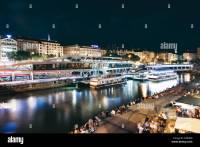 Wien Vienna Donaukanal Danube Canal Stockfotos & Wien ...