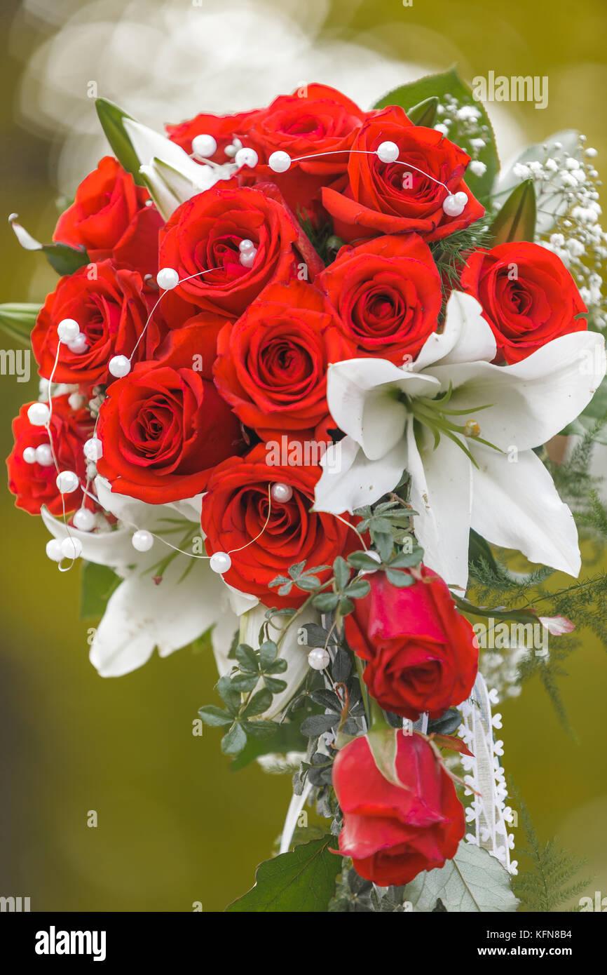 Blumenstrauss Hochzeit Rote Rosen