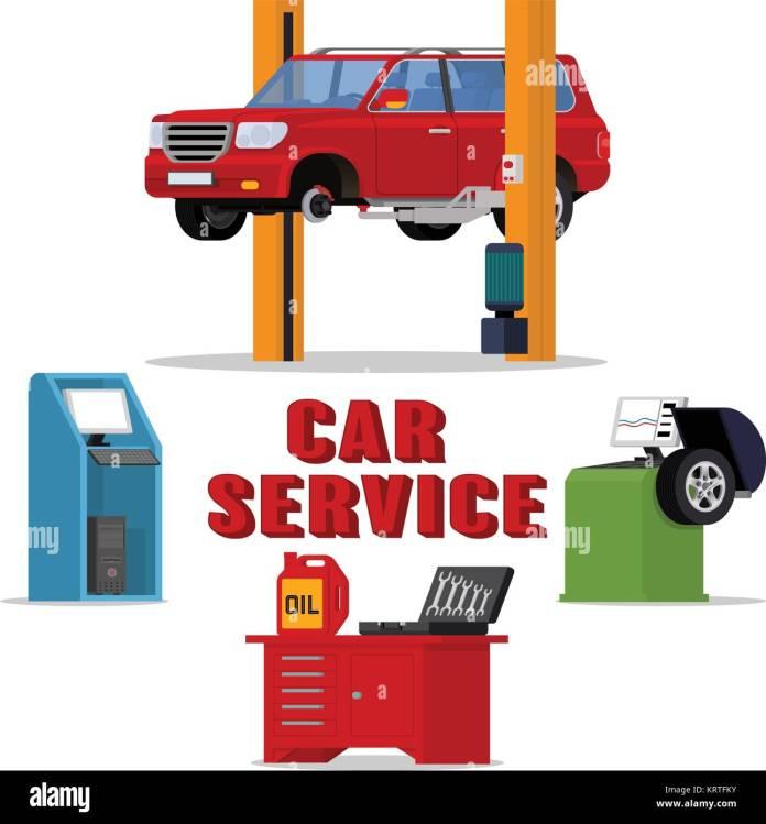vektor concept car services - auto reparatur und diagnose