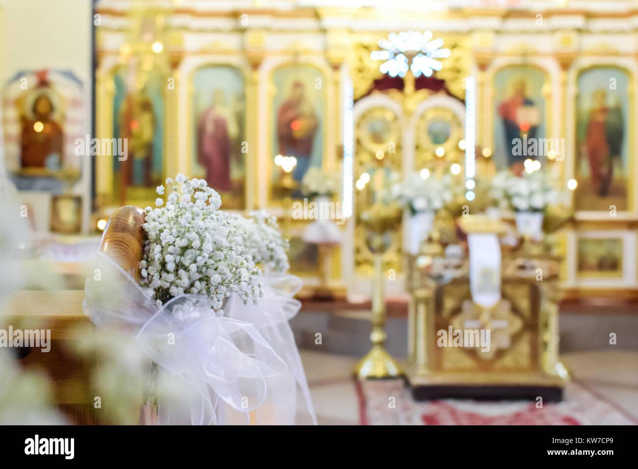 Dekoration Kirche Hochzeit