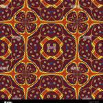 Komplexe Geometrische Muster In Blau Orange Und Gelb Digitale Kunst Stockfotografie Alamy