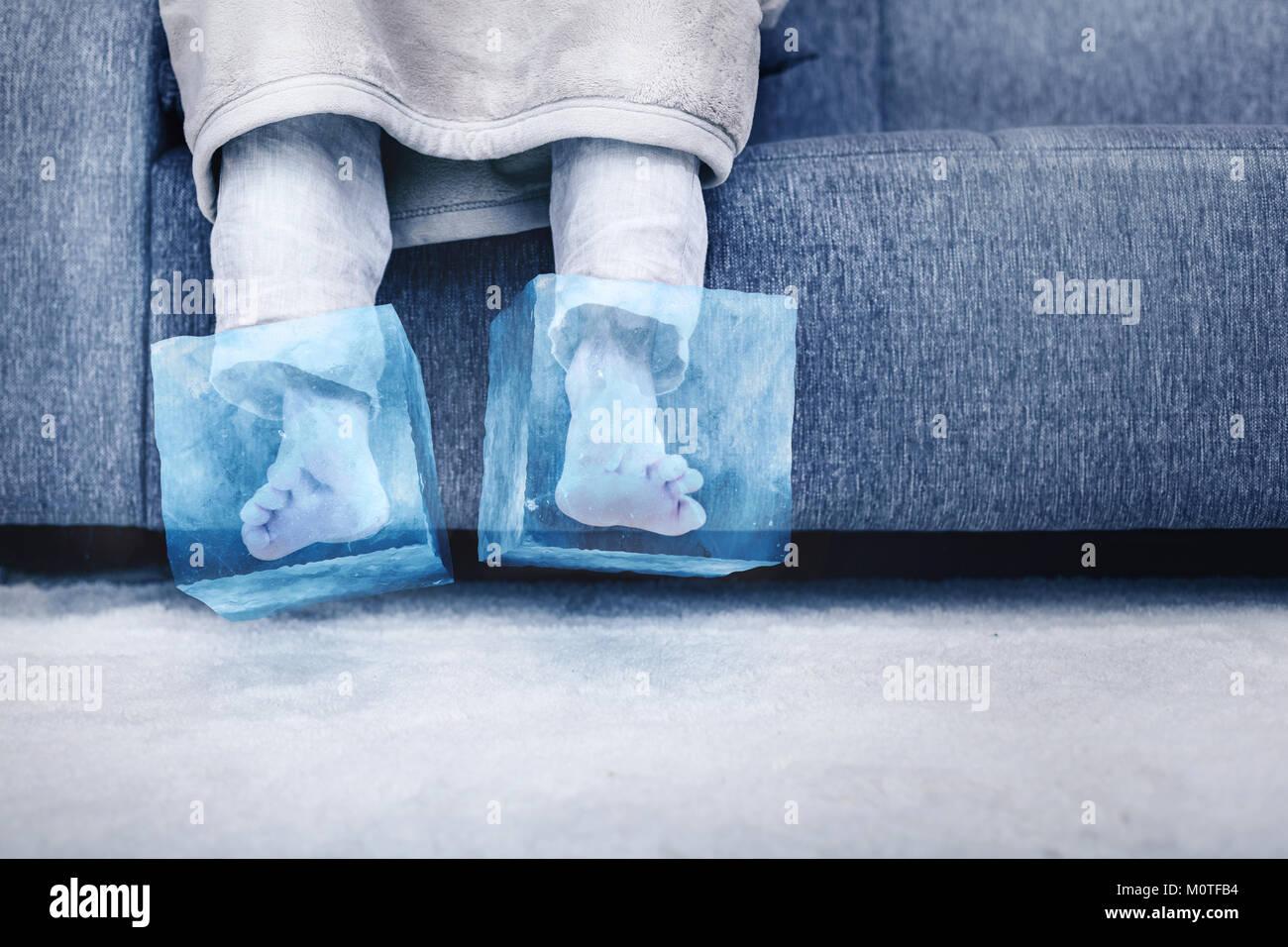 Eis kalte Füße Stockfoto, Bild 172642600  Alamy