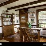 Landhausstil Esszimmer Mit Tisch Und Stuhlen Eiche Spindleback Stockfotografie Alamy