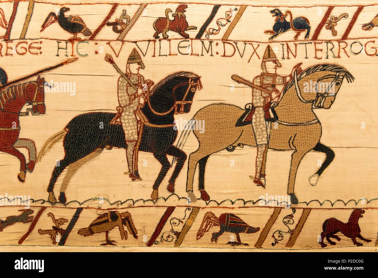 Teppich Von Bayeux Animation France Normandie Calvados Bayeux Bayeux Tapestry