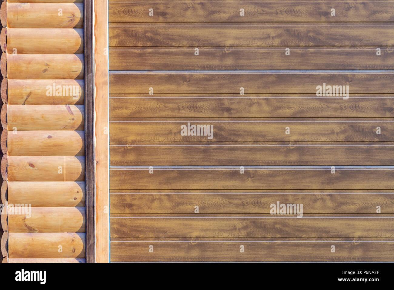 Close-Up Detail Der Wand Mit Holz Abstellgleis Abgedeckt. Teil Des