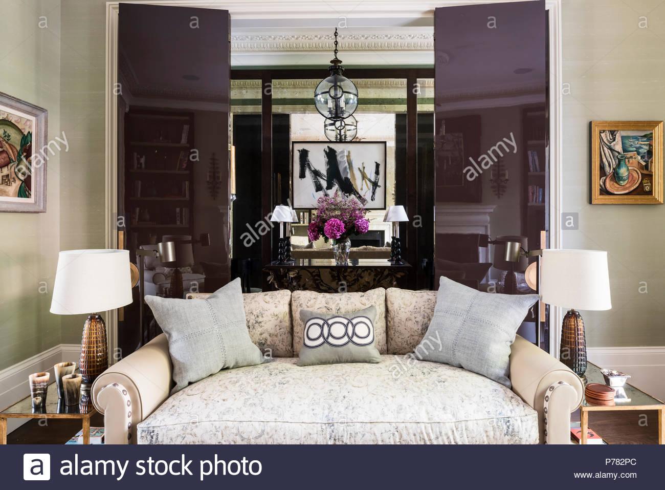 Spiegelwand Muster  Wohnzimmer Spiegel Dekoration Parsvending