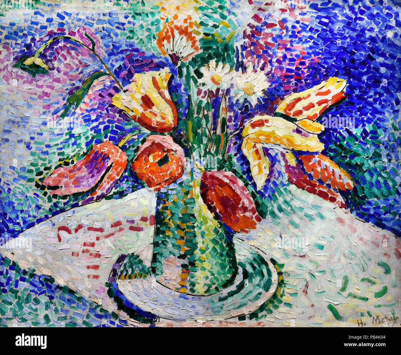 Tulips Painting Stockfotos  Tulips Painting Bilder Alamy