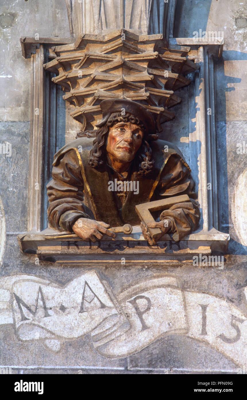 sterreich Wien Stephansdom Holz schnitzen 16 Jahrhundert Meister Anton Pilgram Stockfoto