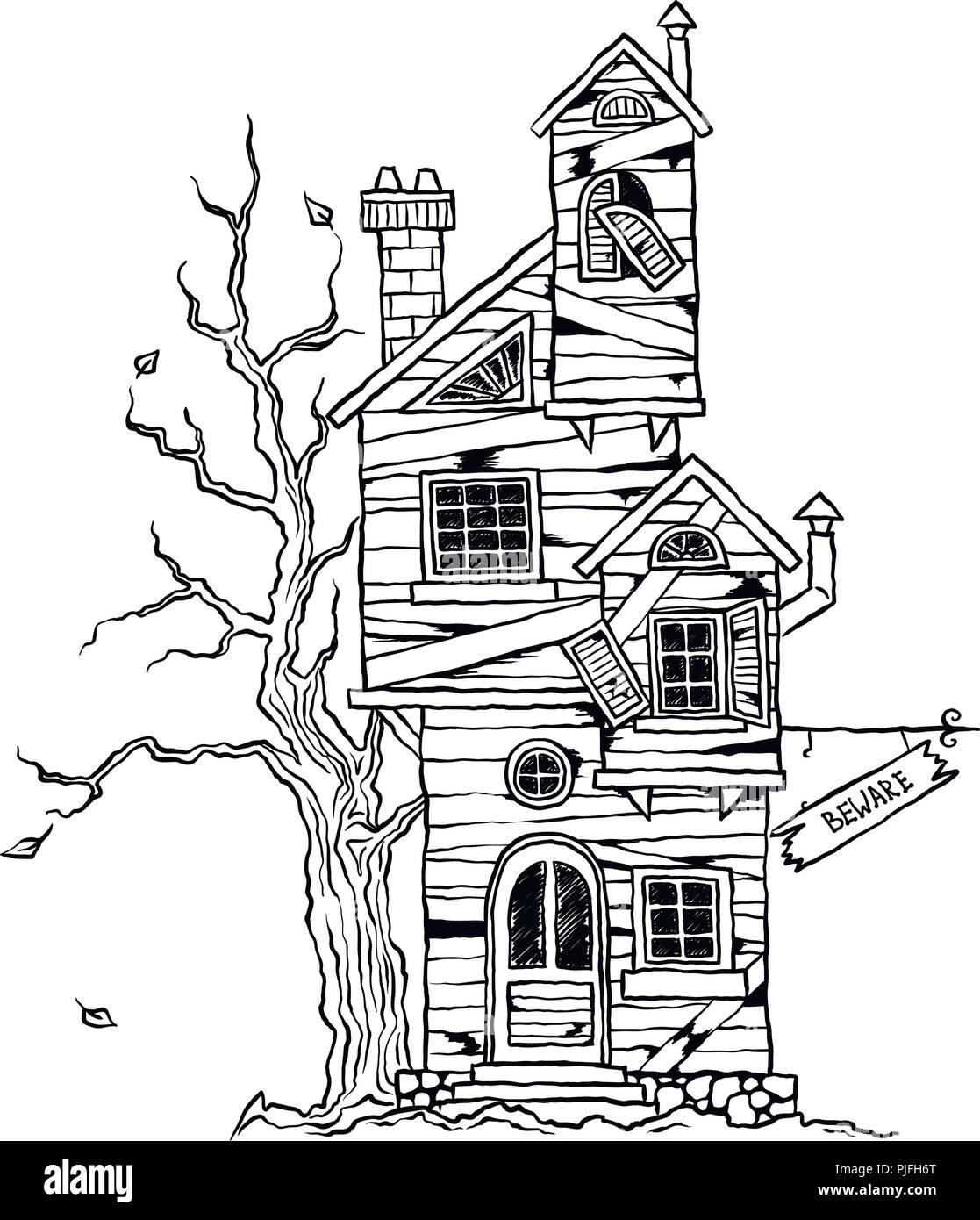 Halloween - beängstigend altes Bauernhaus für Karten