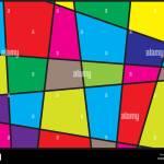 Bunte Geometrische Formen Hintergrund Moderne Abstrakte Kunst Mit Schwarzen Linien Und Farbigen Oberflachen Stock Vektorgrafik Alamy